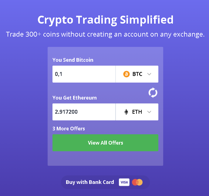 Swap your crypto coins